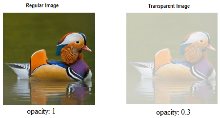 Image transparency